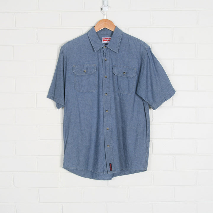 WRANGLER Lightweight Denim Short Sleeve Shirt
