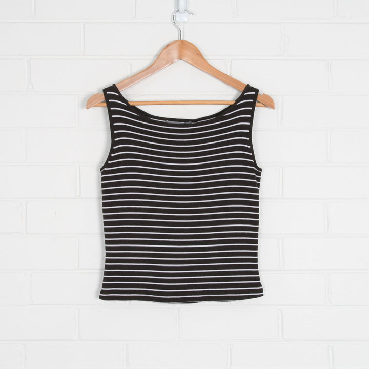 Chocolate Brown Stripe Knitted Tank Top