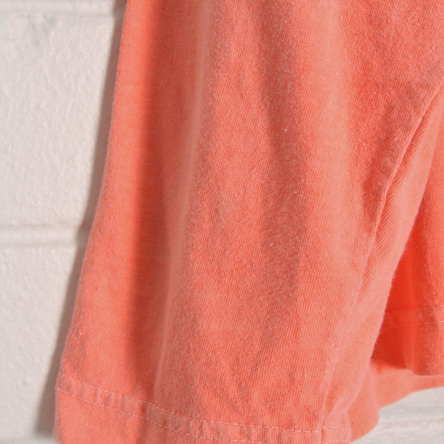 Fluro Orange USA Made Cropped 3/4 Sleeve Skivvy Top