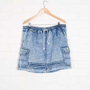 Blue 80s Acid Wash Denim Shorts