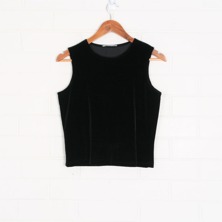 Black Velvet Sleeveless Tank Top