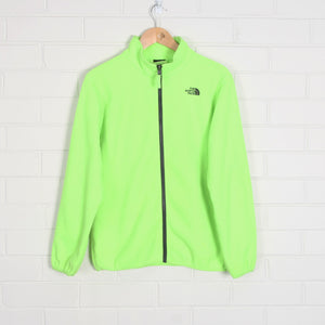 Fluro NORTH FACE Zip Through Fleece Jacket