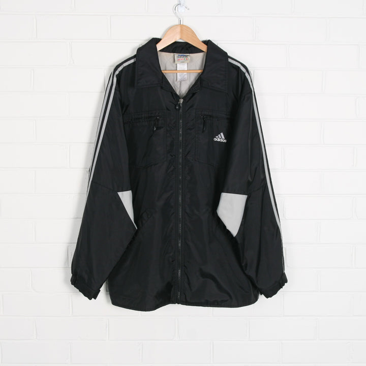 ADIDAS Lined Zip Up Windbreaker Jacket XL