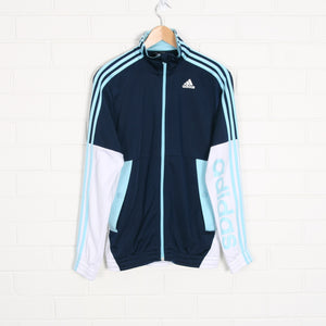 Navy ADIDAS Stripe Sleeve Track Jacket