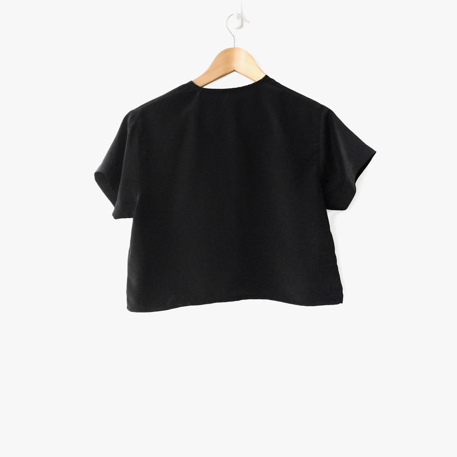 Womens Cap Sleeve Crop Top