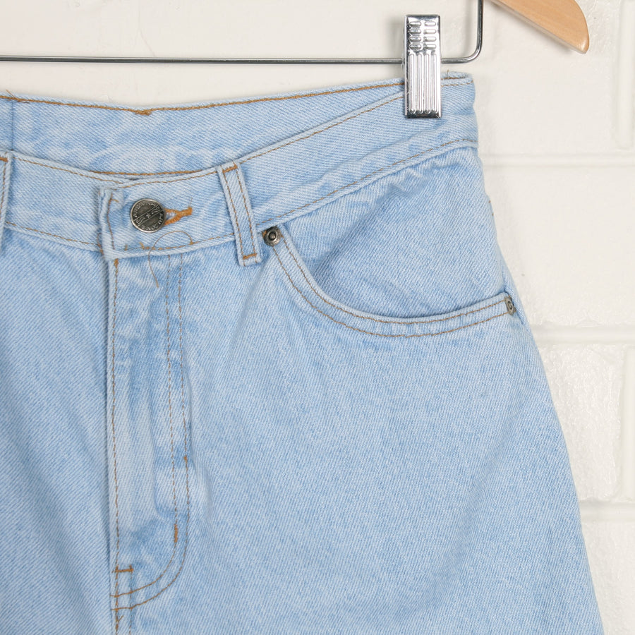 Light Blue Stonewash Denim High Waist Shorts