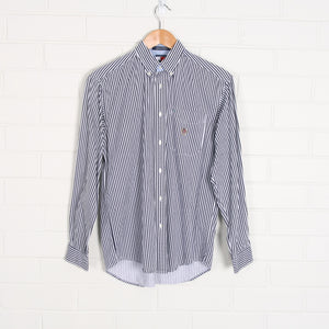 TOMMY HILFIGER Navy and White Stripe Shirt