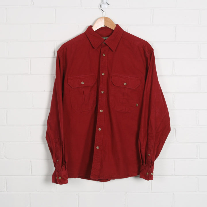 Maroon Thick  Flannel Shirt
