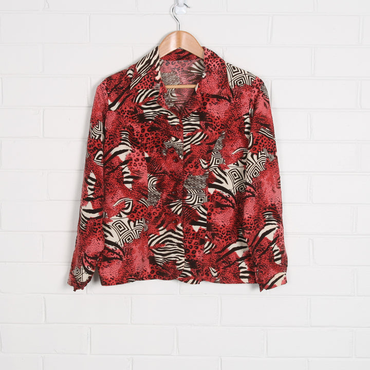 Animal Zebra Print Raspberry Red Shirt