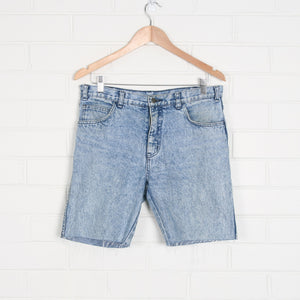80s Blue Acid Wash Cut Off Denim Shorts