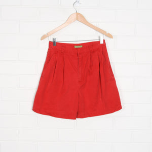 Red 90s ESPRIT High Waist Pleated Shorts