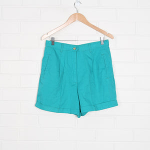 Aqua 90s Cut High Waist Pleated Shorts