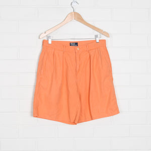 Coral RALPH LAUREN Linen Blend 90s High Waist Shorts USA Made
