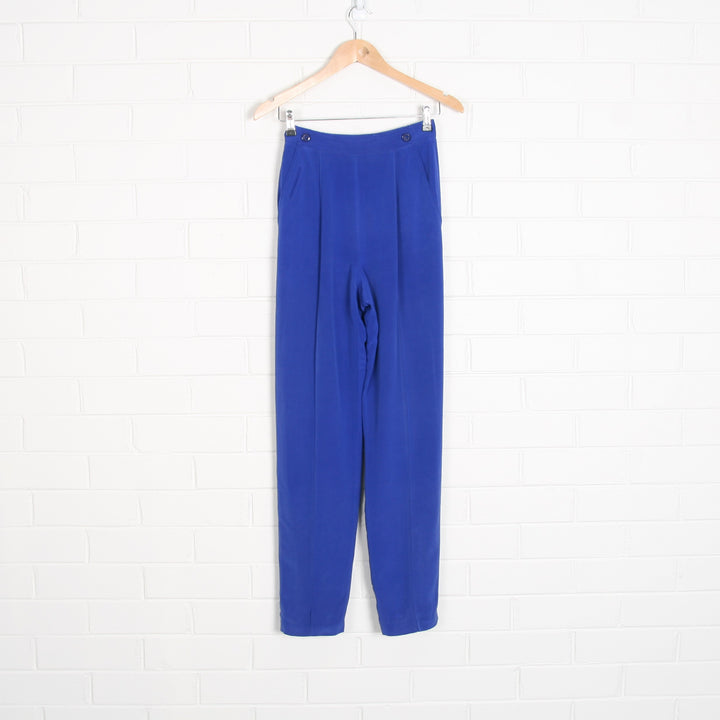 SILK Royal Blue High Waist Tailored Pants