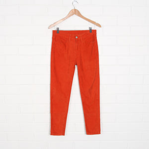 Burnt Orange LEVIS Skinny Leg Cord Pants