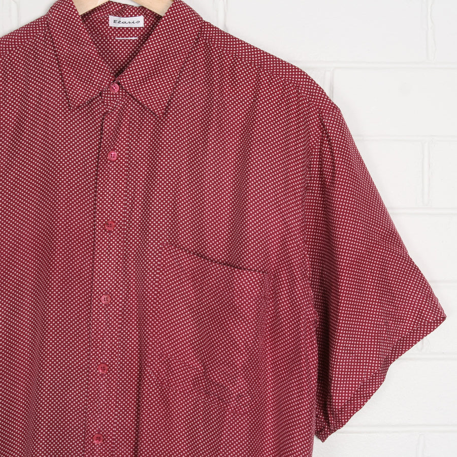 SILK Polka Dot Short Sleeve Shirt