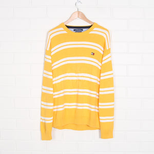 Yellow and White TOMMY HILFIGER Stripe Knit Jumper