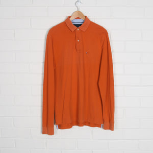 Orange TOMMY HILFIGER Long Sleeve Polo Shirt