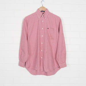 TOMMY HILFIGER Red Gingham Long Sleeve Shirt