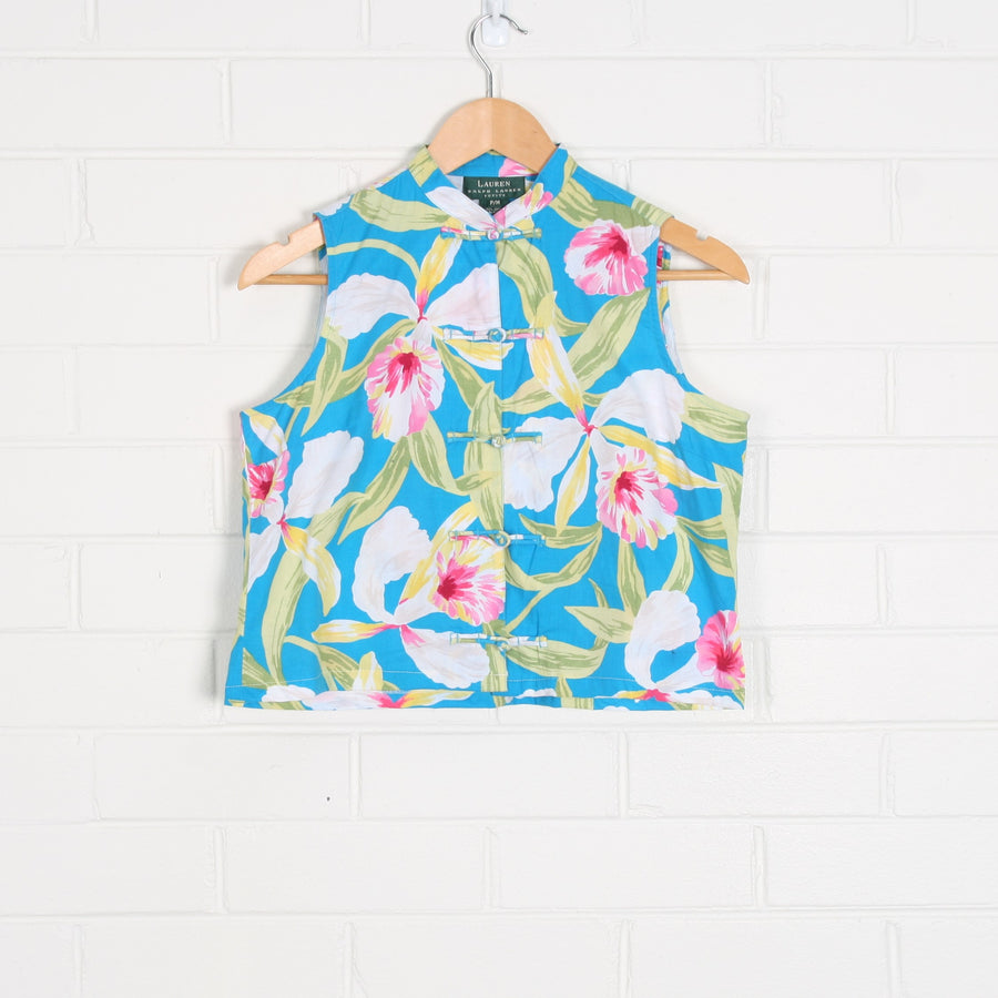 RALPH LAUREN Printed Cotton Floral Top