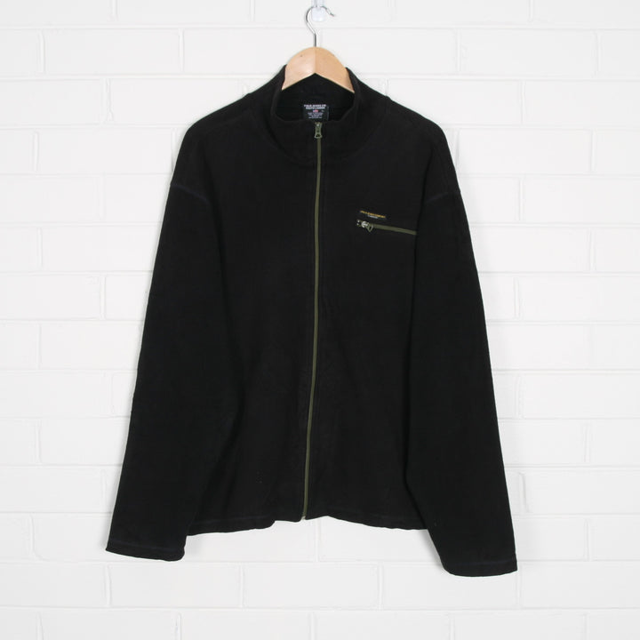Black RALPH LAUREN Zip Through Fleece Jacket XL