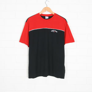 Black and Red TOMMY HILFIGER Two Tone Embroidered T-Shirt
