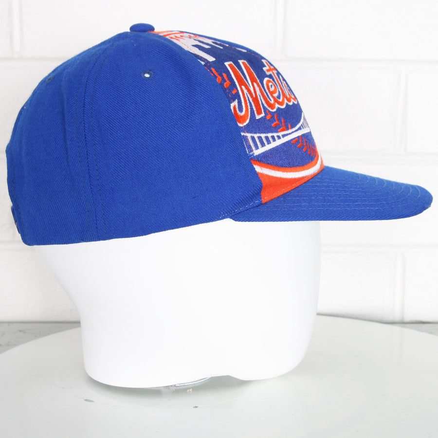 New York Mets Embroidered Green Brim Snapback