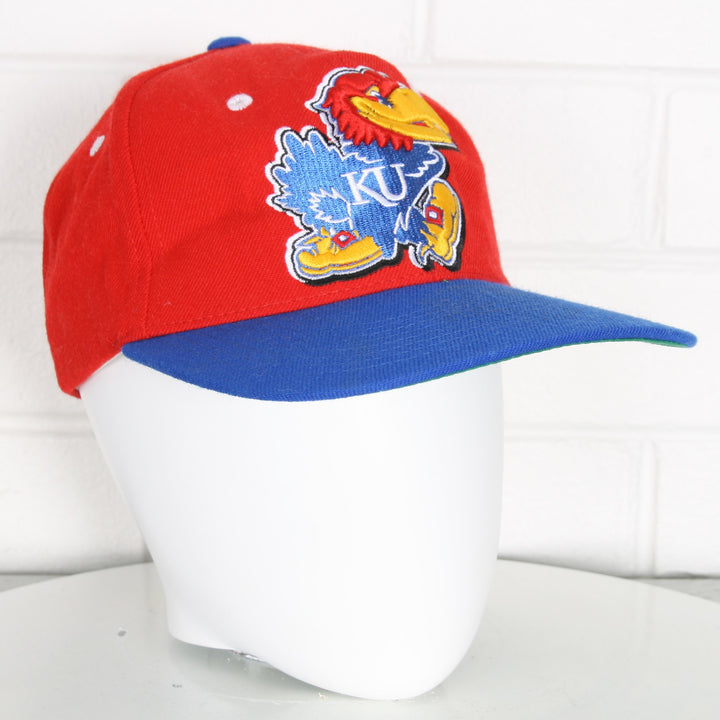 Kansas University Jayhawks Green Brim College Snapback