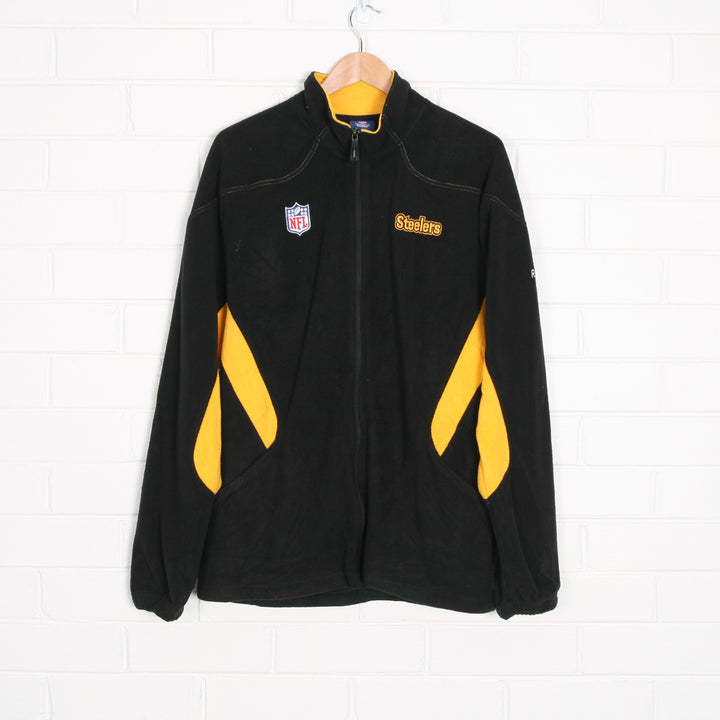REEBOK Pittsburgh Steelers NFL PRO SPORT Fleece Zip Through Jacket
