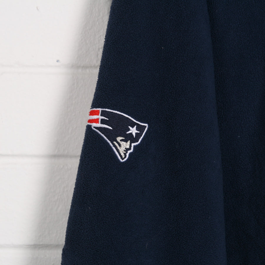 REEBOK Pro Sport NFL Patriots Zip Up Fleece XXL