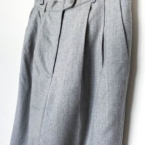 Light Grey High Waist Wool Pants Lined - Vintage Sole