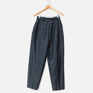 Western Cut Grey High Waist Wool Crop Pants Lined - Vintage Sole