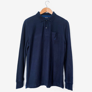 NAUTICA Polo Navy Top Pullover Shirt - Vintage Sole