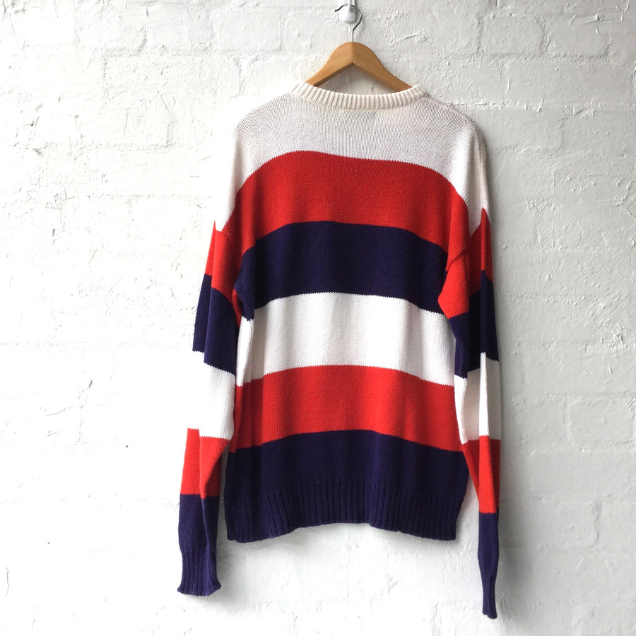 Stripe Colour Block Crew Knit Made USA