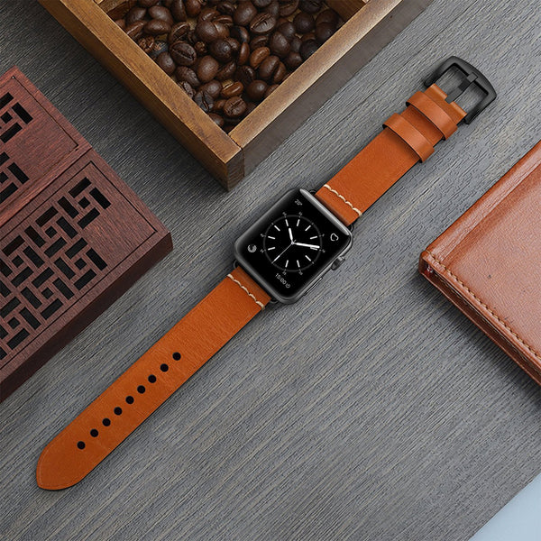 Apple Watch Band 42mm Leather Strap