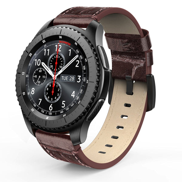 Gear S3 Alligator Grain Leather Band - Brown Mobile Accessories