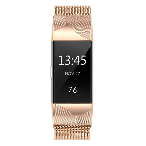 Fitbit Charge 2 Milanese Bands Metal-Connection Laser Engraving-Angel'SWings