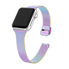 SWEES Stainless Steel Metal Narrow Small Thin Replacement Compatible for Apple Watch 38mm 40mm Series 5/4/3/2/1 Sport Edition Women, Black, Champagne, Silver, Rose Gold