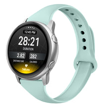 SWEES Sport Bands Compatible with Samsung Galaxy Watch Active 40mm & Galaxy Watch Active 2, 20mm Silicone Band Narrow Wristband for Samsung Galaxy Smartwatch Active 2, Women Men