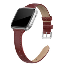 "SWEES Leather Bands Compatible with Fitbit Versa 2 / Fitbit Versa Lite & SE/Fitbit Versa, Slim Thin Genuine Leather Replacement Strap for Versa Women (5.5"" - 7.9"")"