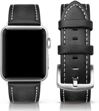 SWEES Leather Band Compatible for Apple Watch 42mm 44mm, Genuine Leather Vintage Strap Compatible iWatch Series 5, 4, 3, 2, 1, Sports & Edition Men