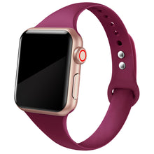 SWEES Narrow Soft Sport Silicone Slim Small Replacement Wristband for Apple Watch 38mm 40mm 42mm 44mm Series 5/4/3/2/1 Sport Edition Women Men