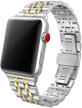 SWEES Stainless Steel Metal Bands Compatible with Apple Watch 42mm 44mm Series 5, Series 4, Series 3, Series 2, Series 1 Sports & Edition, Replacement Ultra Thin Slim Bands