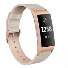 SWEES Leather Bands Compatible Fitbit Charge 3 & Charge 3 SE Fitness Tracker, Genuine Leather Band Strap Wristband Replacement for Women Men Small & Large, Black, Rose Gold, Beige, Brown, Grey, Tan