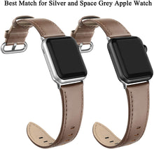 SWEES Leather Band Compatible for Apple Watch 38mm 40mm, Genuine Leather Soft Strap Compatible with iWatch Series 5/4/3/2/1 Women