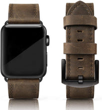 SWEES Leather Bands Compatible for iWatch 42mm 44mm, Genuine Leather Vintage Strap Compatible iWatch Series 5 4 3 2 1, Sports & Edition Men