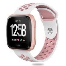 Fitbit Versa Bands, Silicone Replacement Sport Strap With Metal Buckle for Fitbit Versa