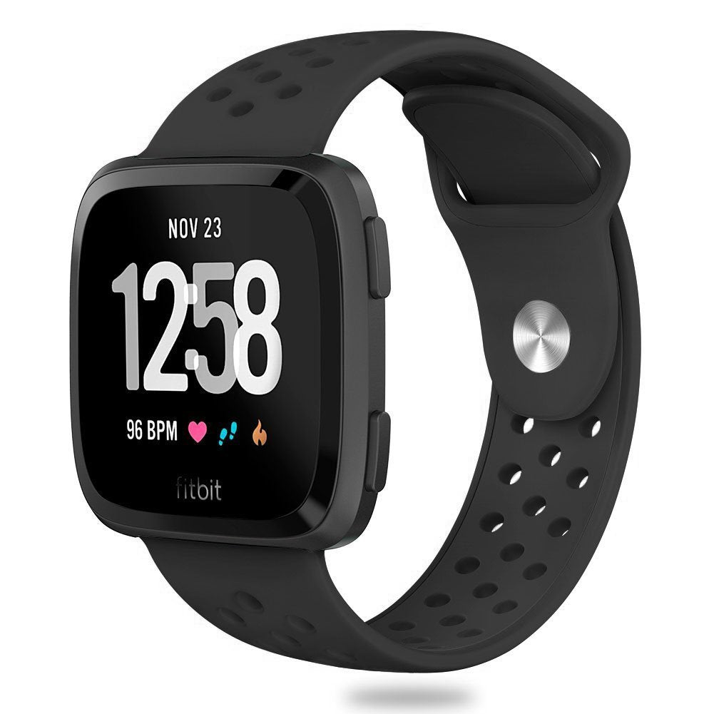 Wear Fitbit Versa your way with this interchangeable band in two-one silicone,fits wrist length 5.5