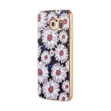 Galaxy S6 Case-3D Relief Printing Pattern-S-Daisies