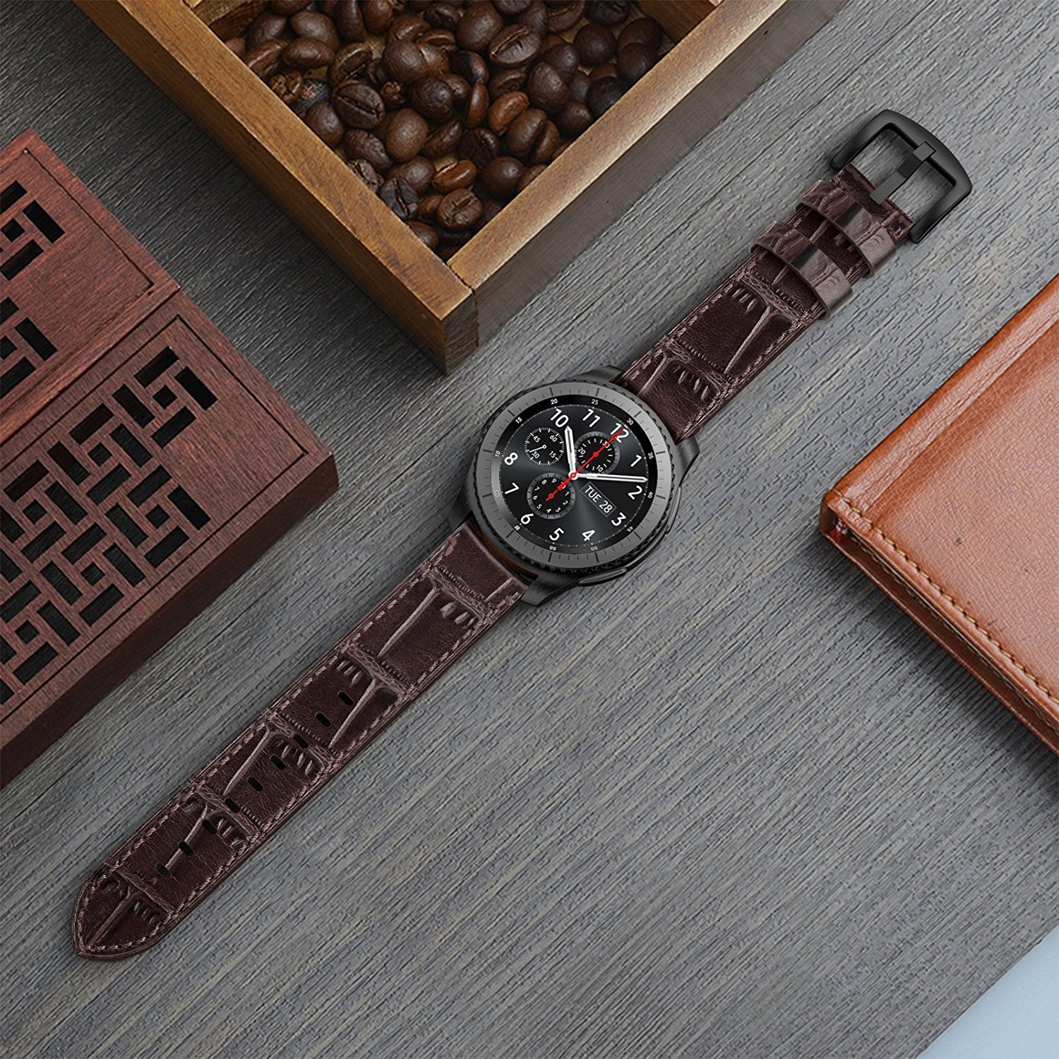 coffee watchbands men corgeut watch bands bracelet leather for product straps genuine